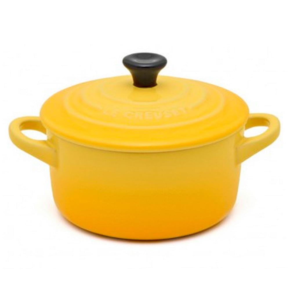 Mini Cocotte 10Cm Amarelo Djion Le Creuset