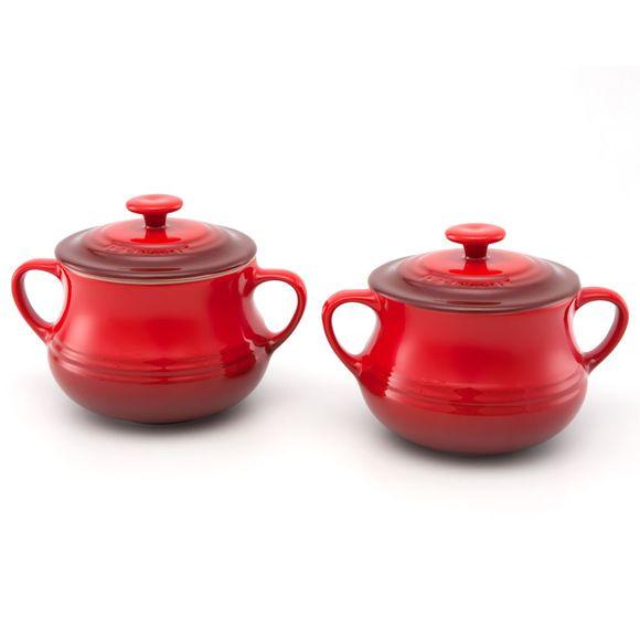 Jogo-com-2-sopeiras-vermelhas-Le-Creuset