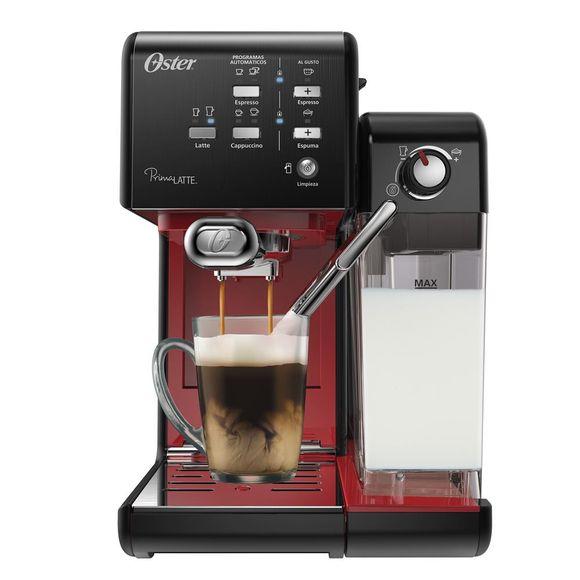 Cafeteira-Prima-Latte-Evolution-Preta-Vermelha-127V--Oster