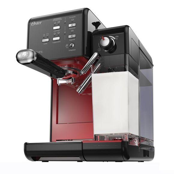 Cafeteira-Prima-Latte-Evolution-Preta-Vermelha-220V--Oster