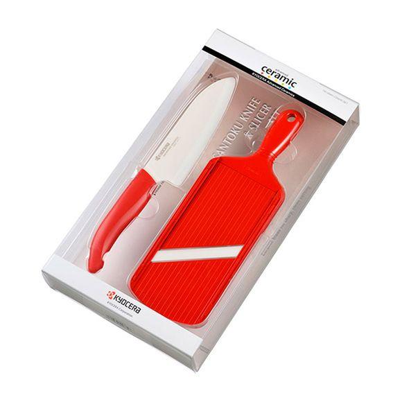Kit-de-Ceramica-2-pecas-com-Fatiador-Ajustavel-Vermelho-Kyocera
