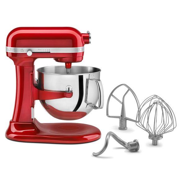 Batedeira-Kitchenaid-Stand-Mixer-Profissional-Vermelha-220V