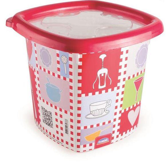 Pote-Conservamax-UP-Quadrado-155l-Decorado--Vermelho-Plasutil