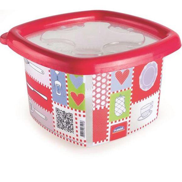 Pote-Conservamax-UP-Quadrado-105l-Decorado--Vermelho-Plasutil