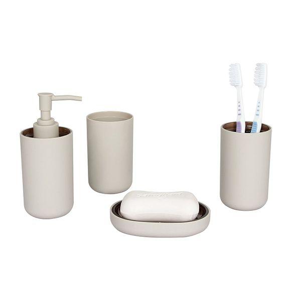 Kit-Banheiro-4-Pecas-Marrom-52202-Basic-Kitchen