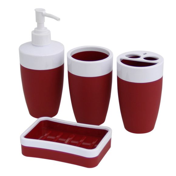 Kit-De-Banheiro-4-Pecas-Branco-Vermelho-52206-Basic-Kitchen