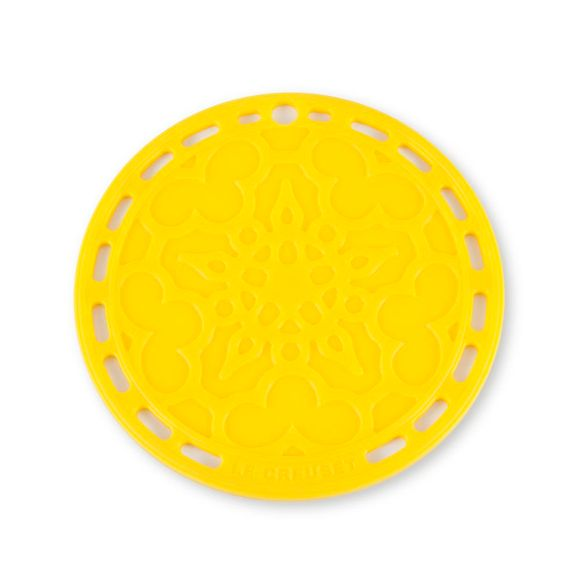 Suporte-De-Silicone-Mandala-Amarelo-Dijon-Le-Creuset