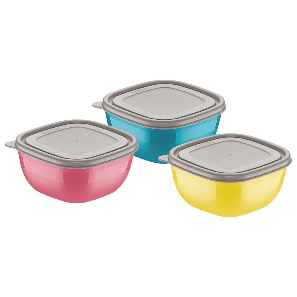 be6139bf64 Jogo Bowls 600ml 3 Peças Mix Color Tramontina - Doural