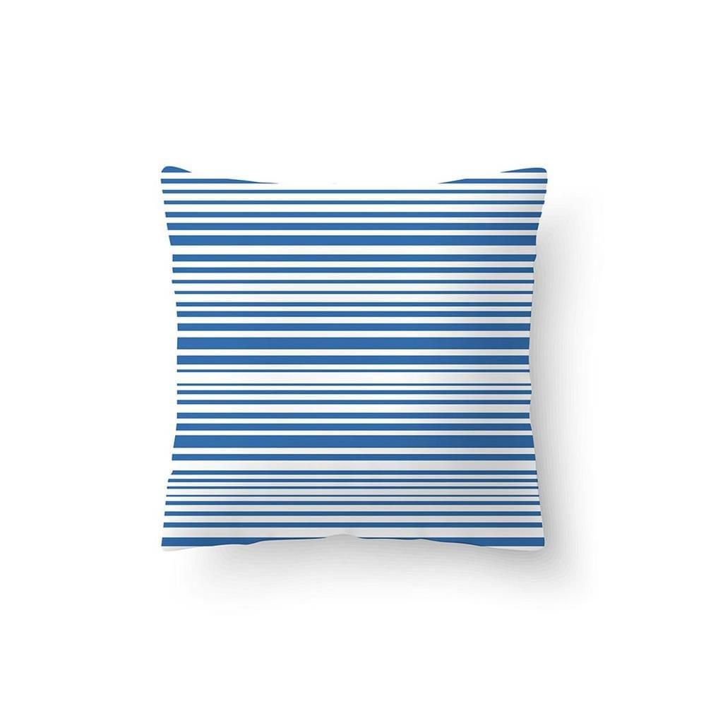 Capa De Almofada Listras Azul 0.40X0.40 Cm Camesa