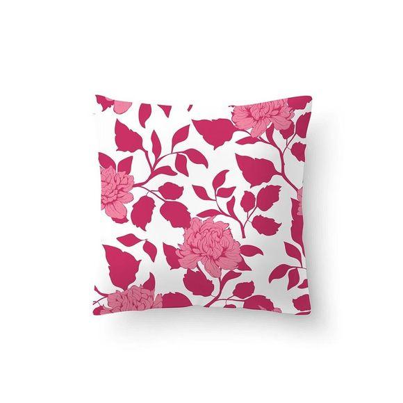 Capa-de-Almofada-40cmx40cm-Floral-Rosa
