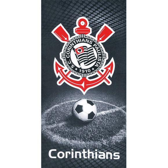 Toalha Praia Velour Times - Corinthians Desenho 06 Dohler