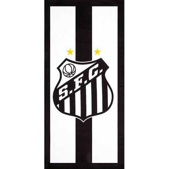 Toalha Velour Time Futebol Santos 0,76X1,52 M Desenho 07 - Dohler