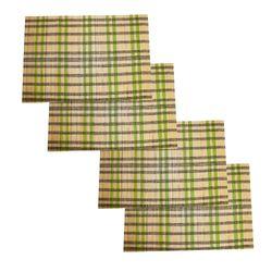 Jogo-Americano-Retangular-45X30-Cm-90186-4-Pecas-Verde