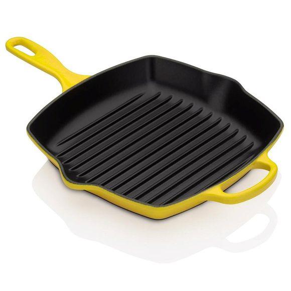 Grelha-Quadrada-26cm-Signature-Amarelo-Soliel-le-Creuset