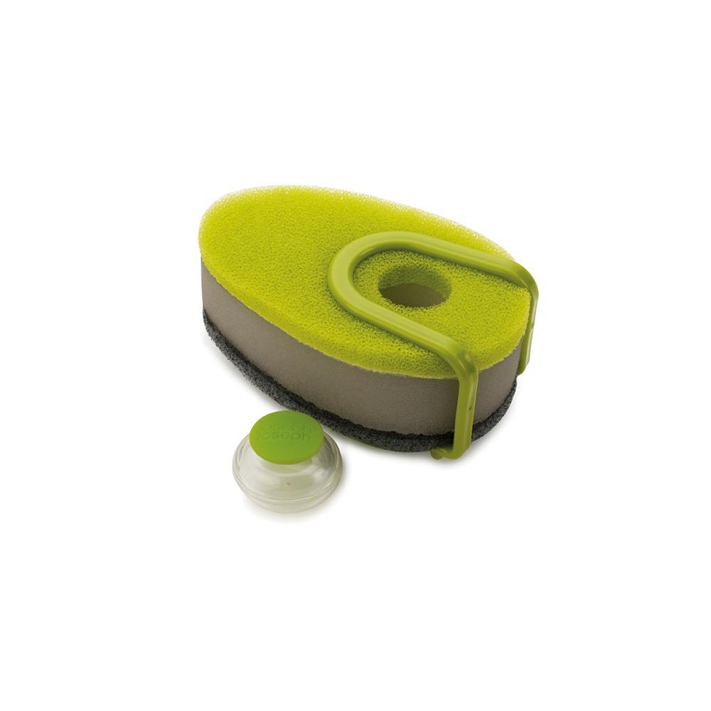 Esponja Com Reserva Para Detergente Verde