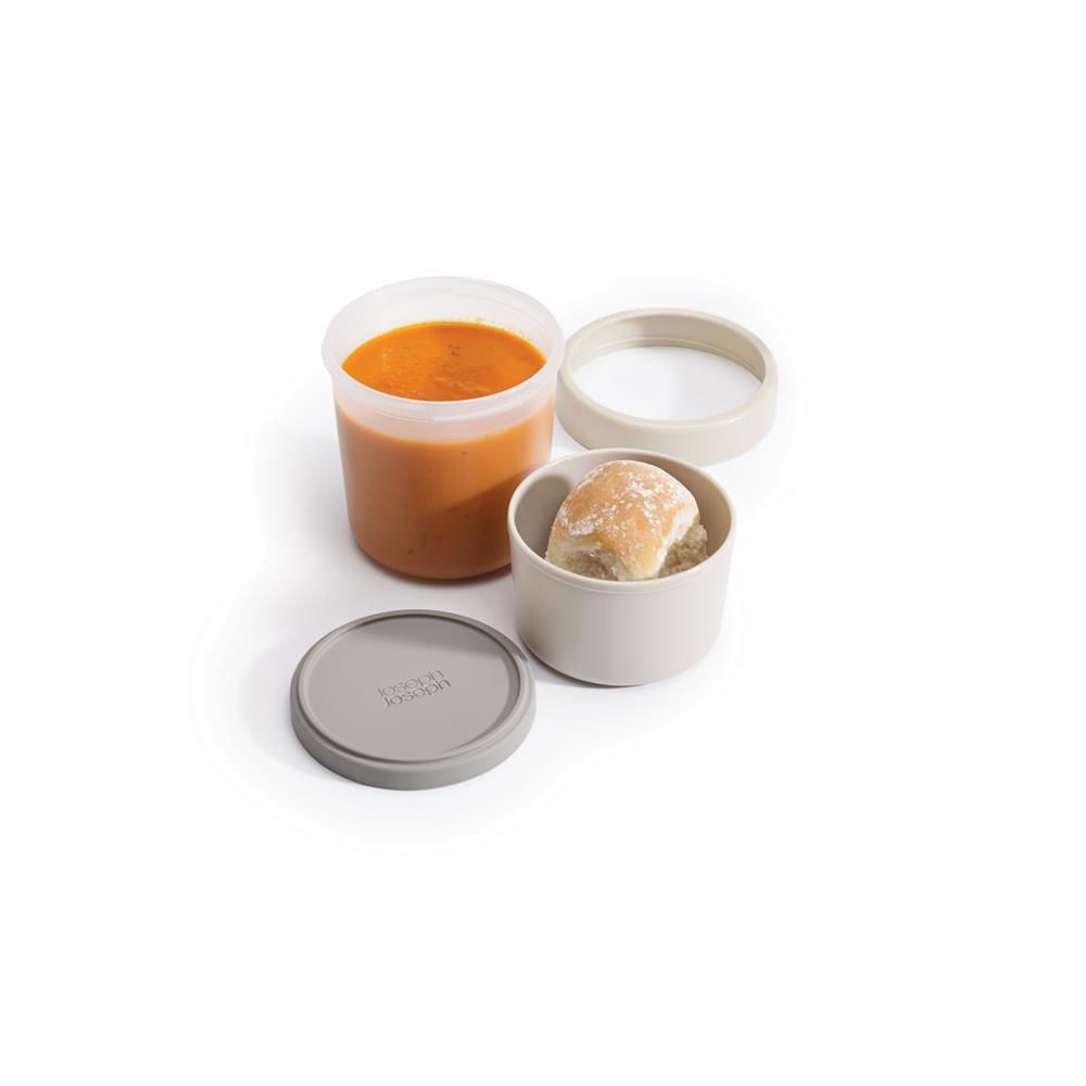 Pote Compacto Para Sopa 2X1 Cinza