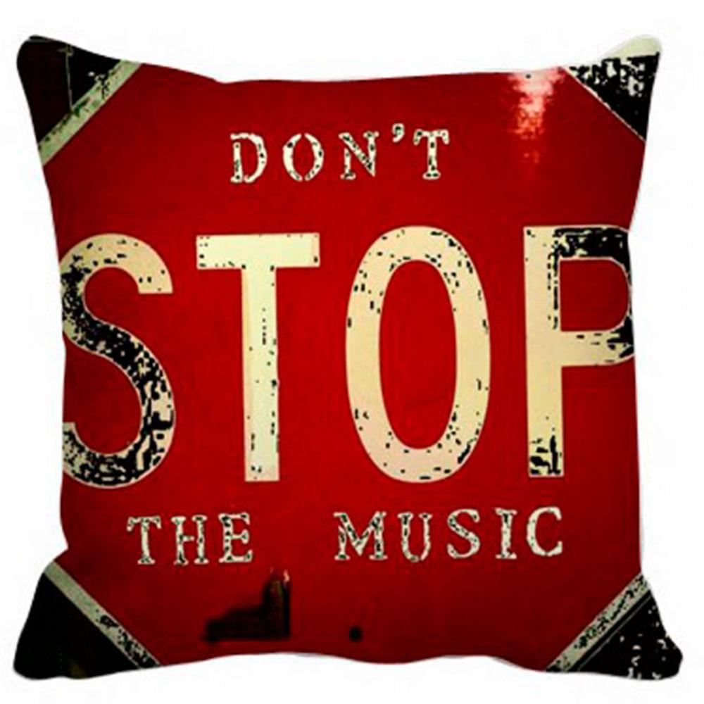 152888aaf4e8e2 Capa Almofada Don'T Stop Music - 40X40Cm