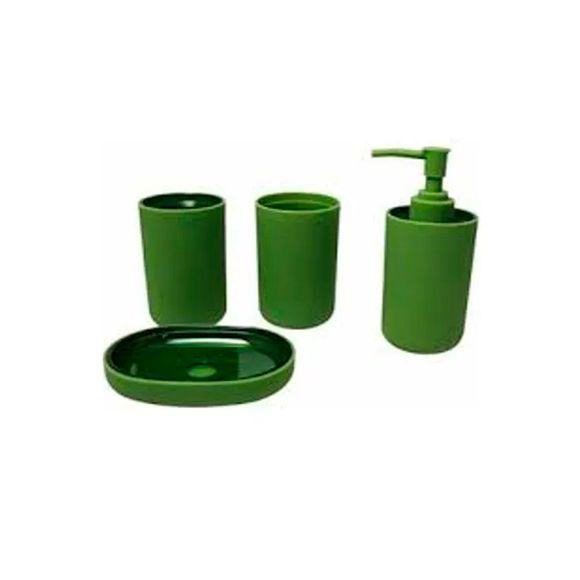 Kit-Banheiro-4-Pecas-Verde-52202-Basic-Kitchen