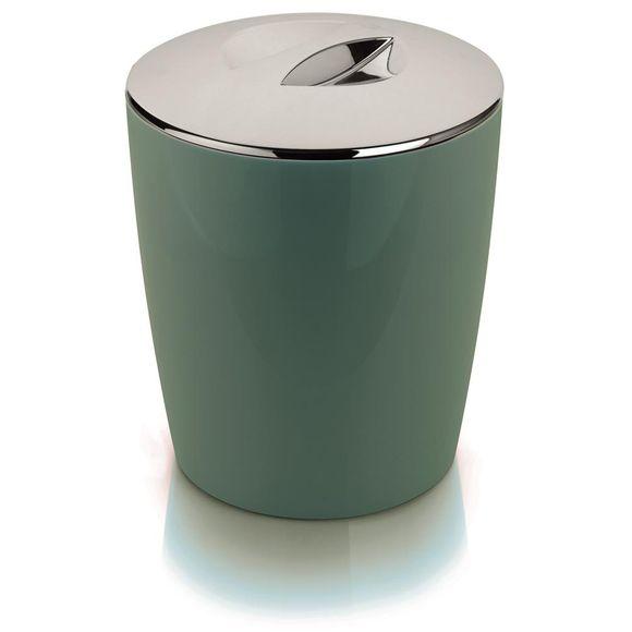 Lixeira-Vitra-5-Litros-Cromo-Verde-Ou