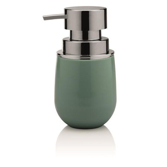 Porta-sabonete-Liquido-New-Belly-Cromo-Verde-Ou