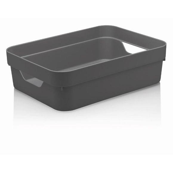 Caixa-Organizadora-Cube-G-Baixa-Sem-Tampa-16-Litros-Chumbo-Ou