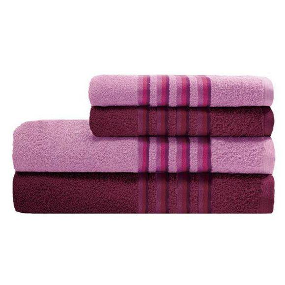 Jogo De Banho Aurora Com 4 Peças Rose/Pink Camesa