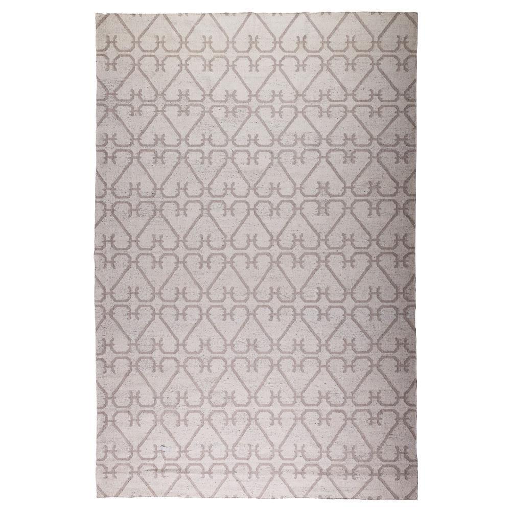 Tapete Indiano Kilim Bamboo Silk 2.00X2.50 1 Marfim/Marrom
