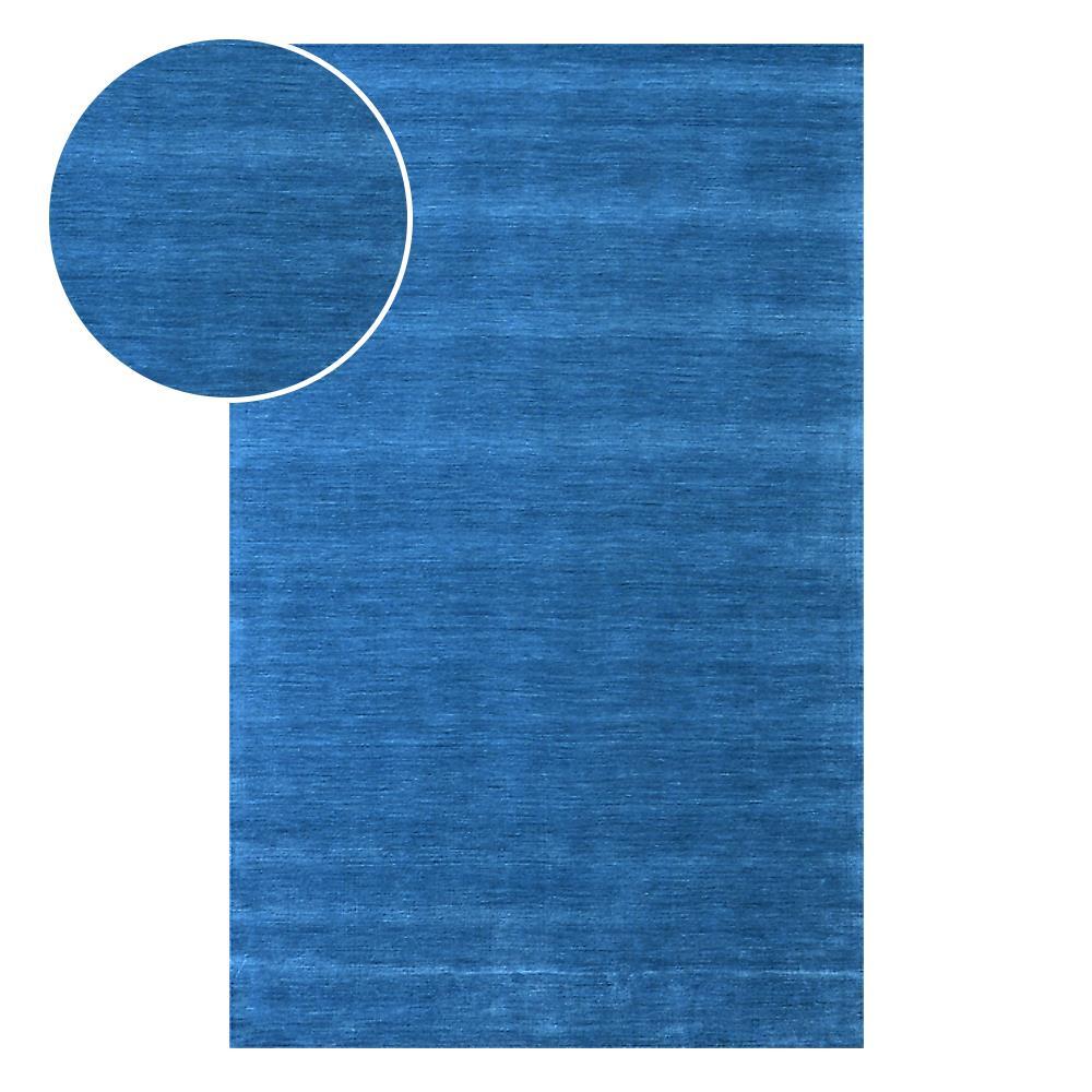 Tapete Indiano Bhadohi Color 3.00X4.00 Azul Abdalla