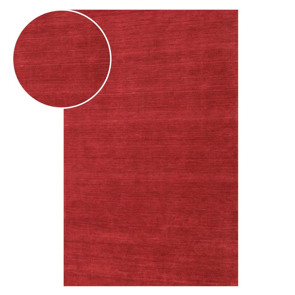 Tapete Indiano Bhadohi Color 3.00X4.00 Vermelho Abdalla