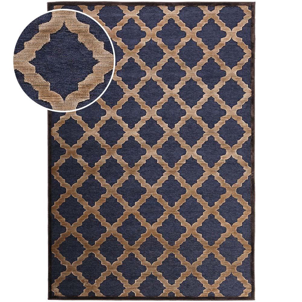Tapete Belga Tiffany 0.60x1.10 350 Azul Abdalla