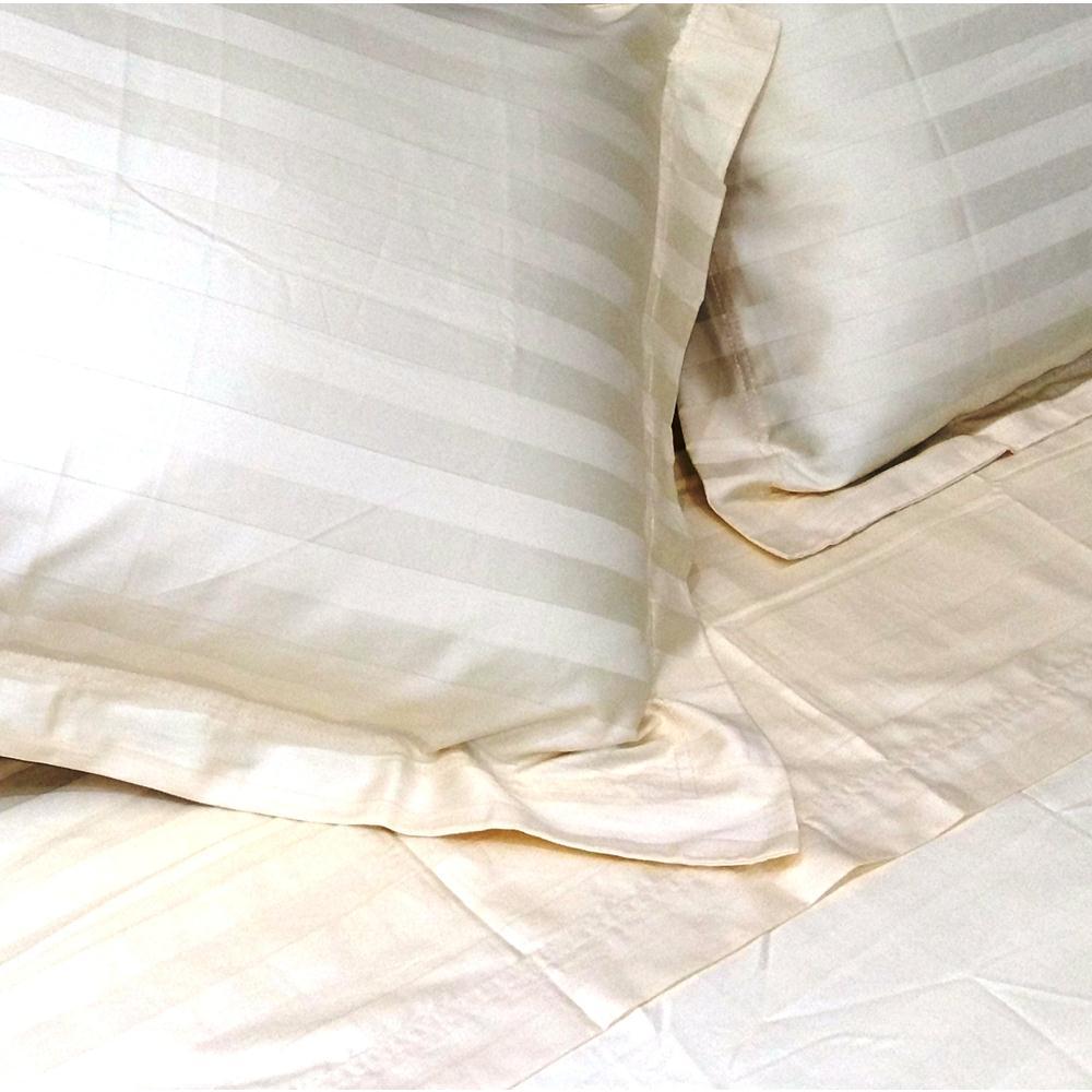 Jogo Cama 250 Fios Stripe Forever Solteiro 180X240 Marfim
