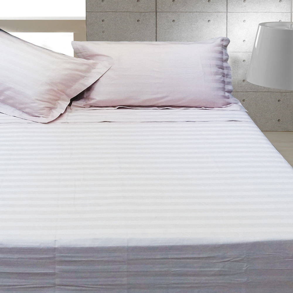 Jogo Cama 250 Fios Stripe Forever Solteiro 180X240 Rosa