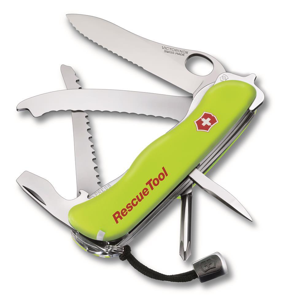 Canivete Rescuetool Fosforescente Com Bainha Amarelo Victorinox