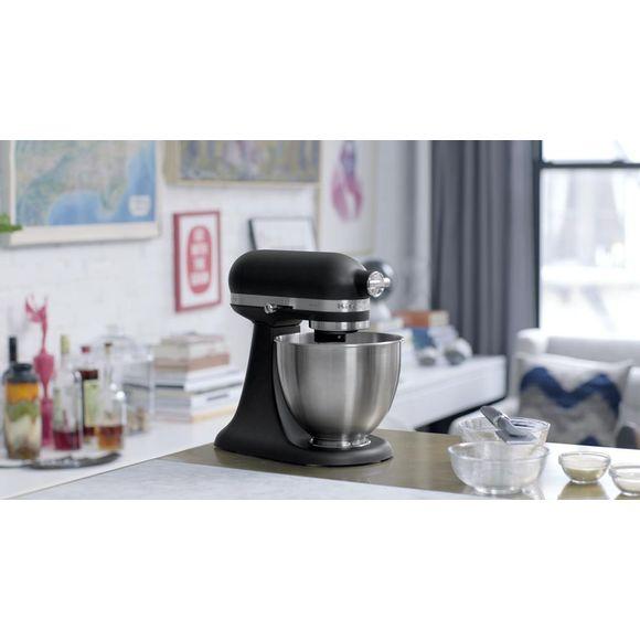 Mini-Batedeira-Stand-Mixer-Artisan-Matte-Black-110v