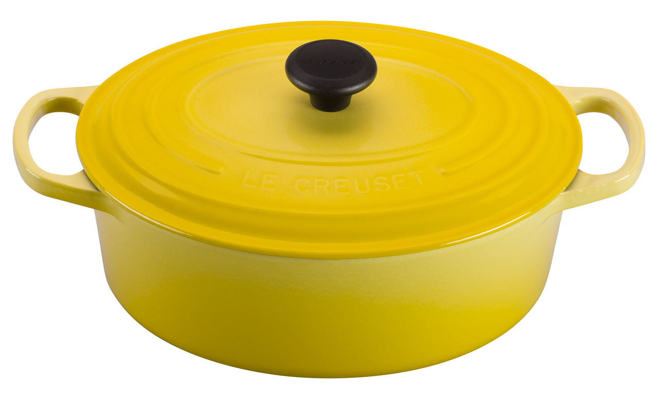 Panela Oval 31Cm Amarelo Soleil Le Creuset