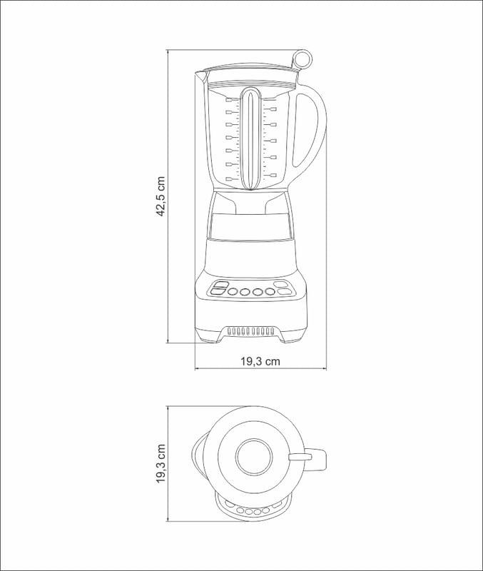Liquidificador Smart Twist 127V 69007011 Tramontina