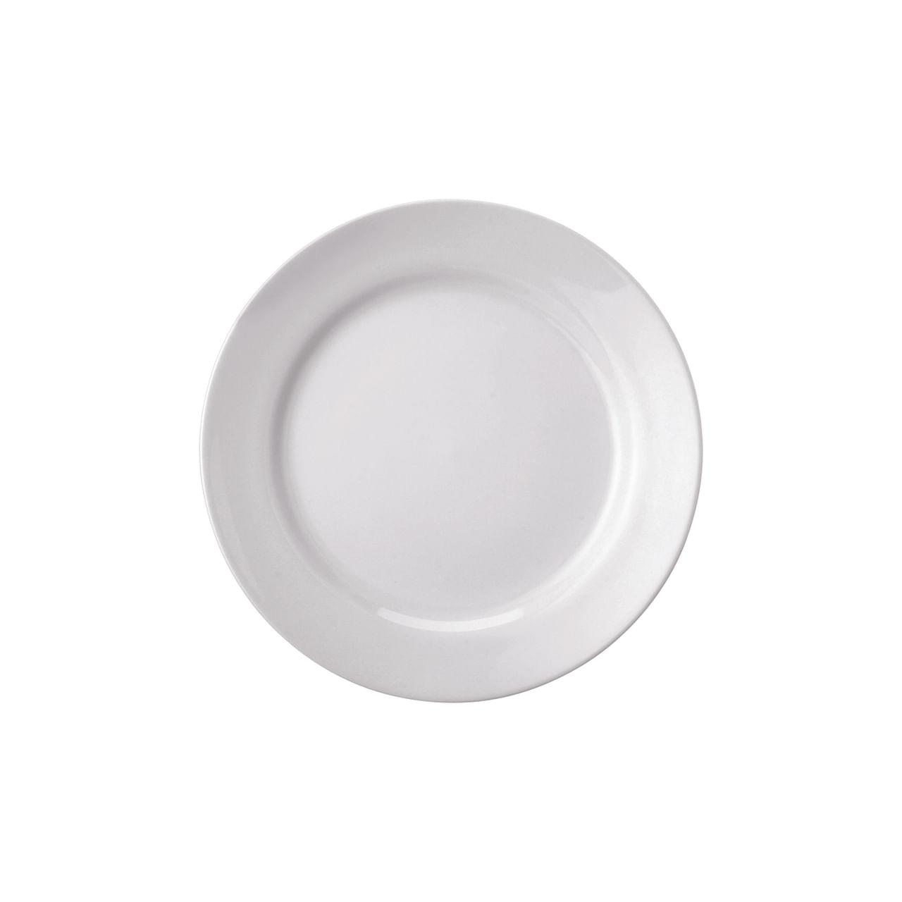 Prato Sobremesa 19Cm Branco Cilíndrico Schmdit