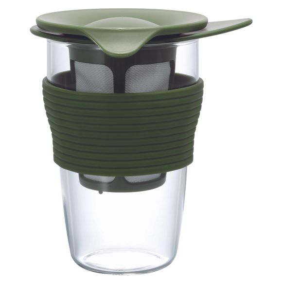 Infusor-De-Cha-Grande-Vidro-350ML-Verde-Oliva-Hario