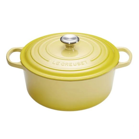 Panela-Redonda-26Cm-Signature-Amarelo-Soleil-Le-Creuset