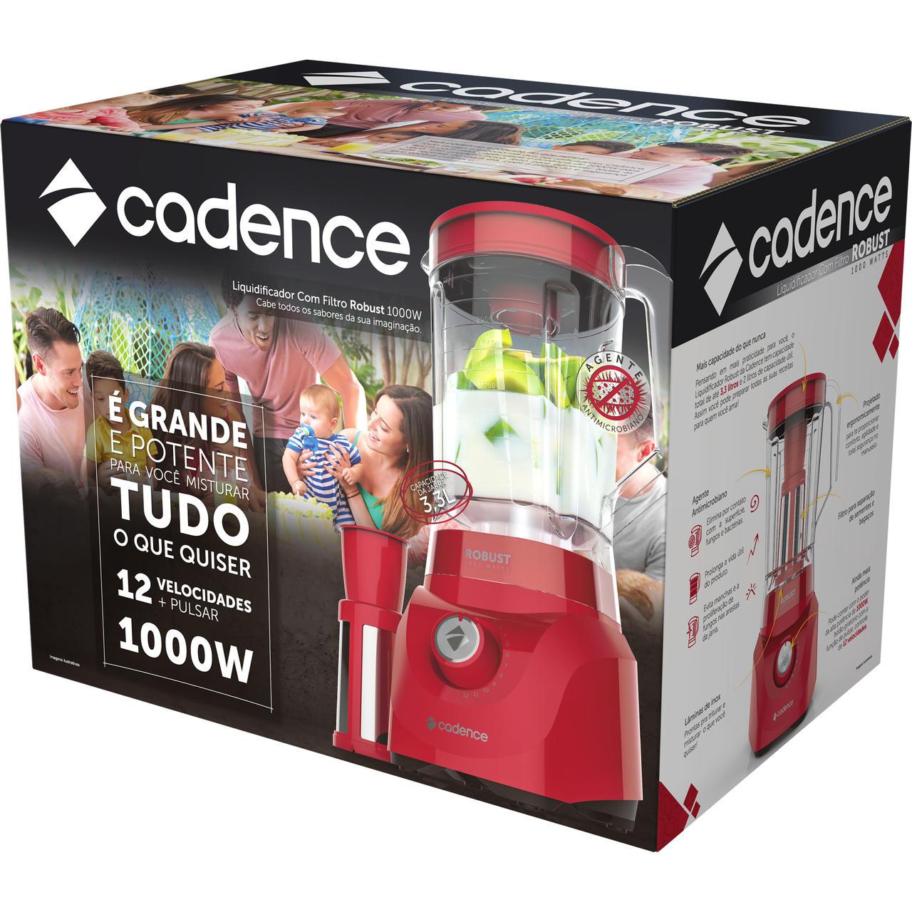 Liquidificador Robust Liq411 127V Vermelho Cadence