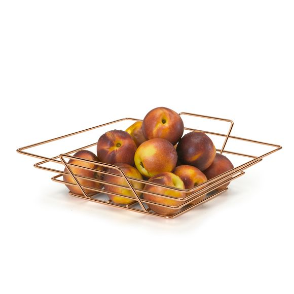 Fruteira Mesa Quadrada Art Cook Rose Gold Arthi