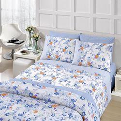 b4f42e3c12 Jogo de Cama Queen Royal Duplo Laila Azul Santista