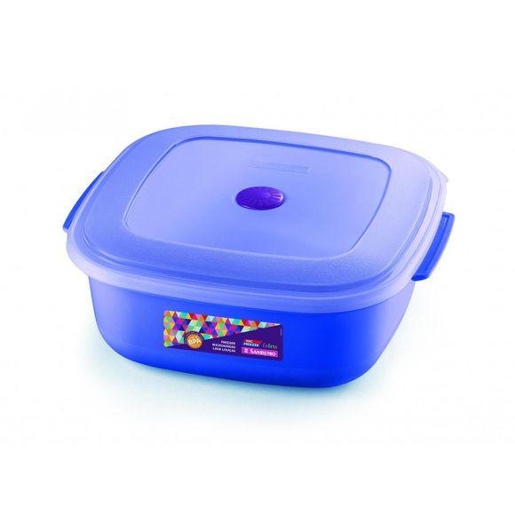 Pote-Quadrado-Bx-G-Plastico-Azul-Sanremo