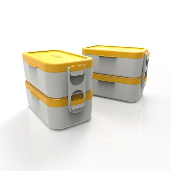 Bento-Box-Dupla-Cinza-Com-Tampa-Amarelo-Anodilar