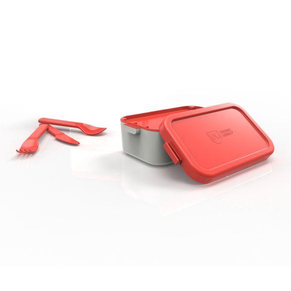 Bento-Box-Individual-Cinza-Com-Tampa-Vermelho-Anodilar