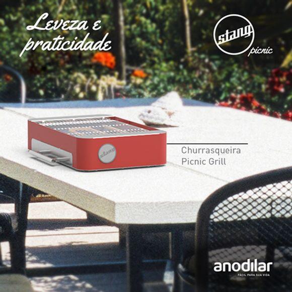 Churrasqueira-Picnic-Grill-Eletrico-Vermelho-127-Volts-Anodilar