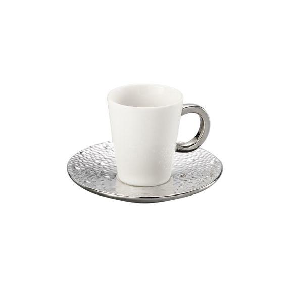 Conjunto 6 Xícaras Para Café Com Píres Super White Drop 100ml Lyor