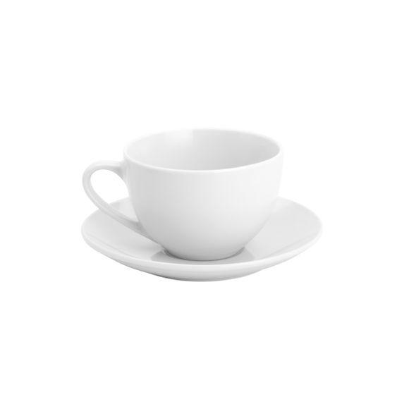 Xicara-para-Cha-com-Pires-De-Porcelana-Basic-200Ml-Lyor
