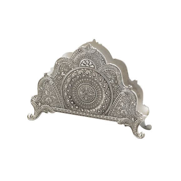 Porta-Guardanapos-Zamac-Silver-Plated-Marrocos--Lyor