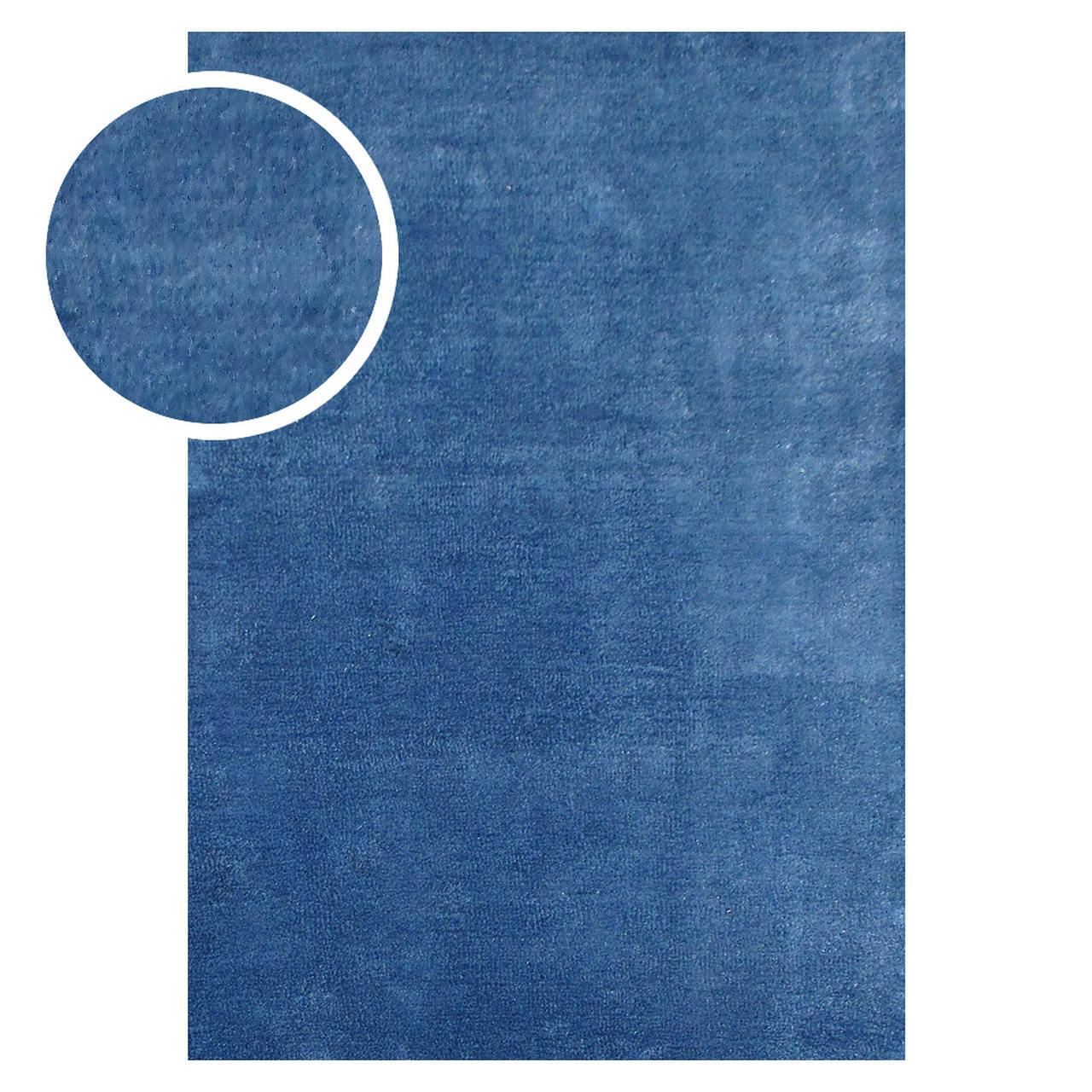 Tapete Chinês Microfibra Alba 2.00X3.00 MA09 Azul Abdalla